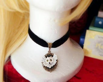 Hedwig choker - Harry Potter withe owl - HP necklace jewelry
