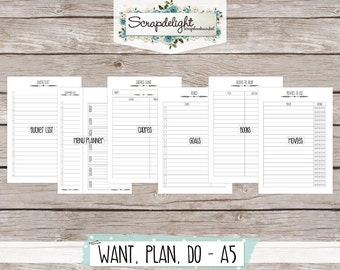 Scrapdelight Printable Planner Kit 2017 - Clean - A5 Want-Plan-Do