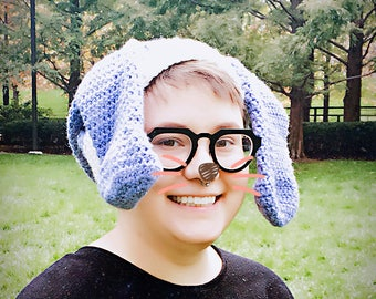 Bouncy Bunny crochet hat