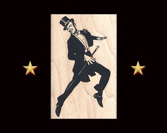 FRED ASTAIRE Rubber Stamp, Fred Astaire gift, Fred and Ginger, Dancer Stamp, Ballroom Dance, Ginger Rogers, Dance Rubber Stamp, Dancing