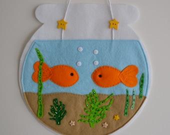 Felt Goldfish Bowl - Wall Hanging