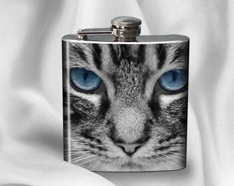 SALE! Hip Flask -  Cat-  - Cyber Monday