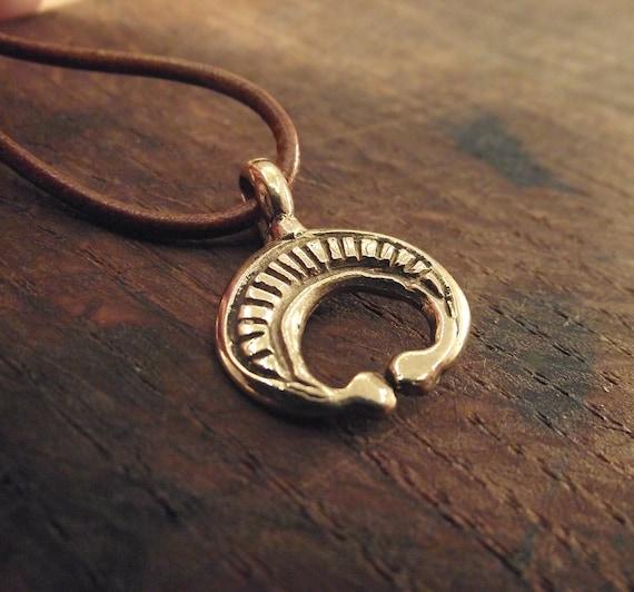 Roman lunula in bronze moon pendant replica aloadofball Gallery