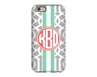 iPhone case, Gray Roman, Personalized iPhone 8, iPhone 7, iPhone 6 Tin Tree Gifts Monogram Gift for Women