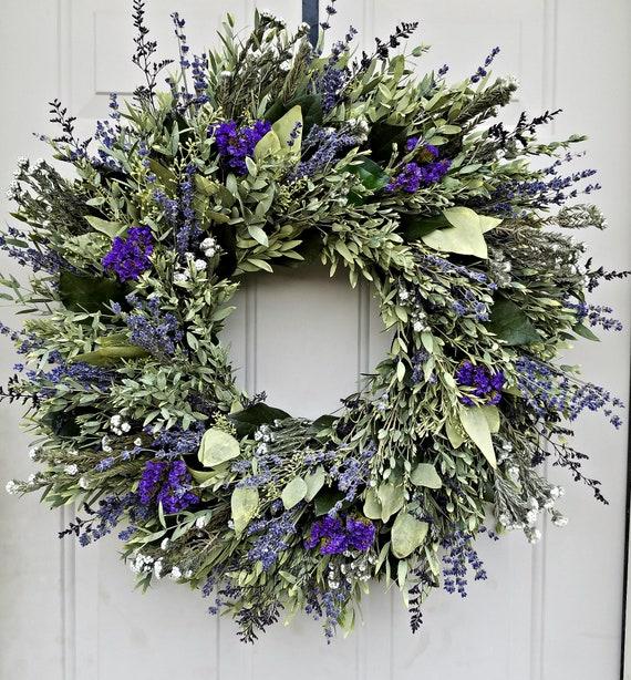 25 inch preserved eucalyptus wreath, seeded eucalyptus wreath, leaf wreath, preserved wreath, gift wreath, door wreath