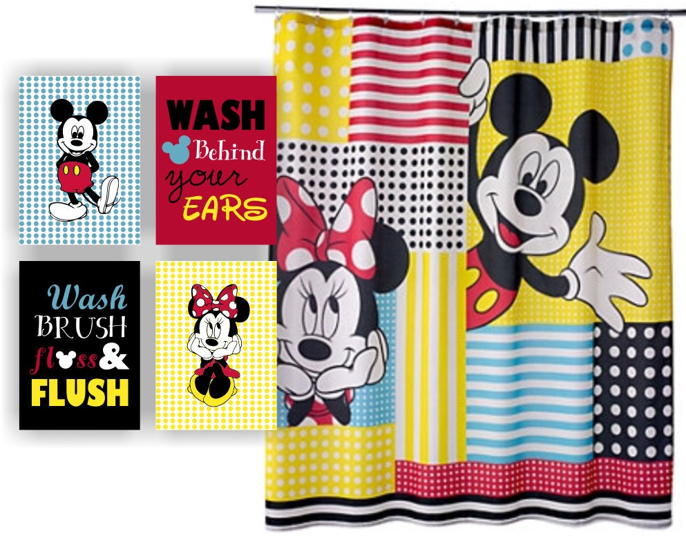Set of 4 5x7 Disney Printable Mickey Mouse and Minnie Mouse