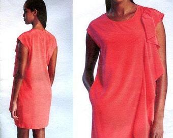 Free Us Ship Vogue 1300 DKNY Ruffled OverDress Slip Designer 2012 Size 14/22 Bust 36 38 40 42 44 plus size Sewing Pattern (Last size left)
