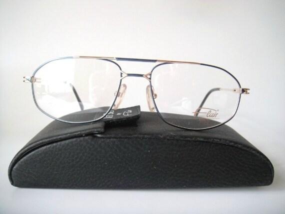 Flair Titanium Germany Large 56-17 Eyeglass Frames Specs Mens