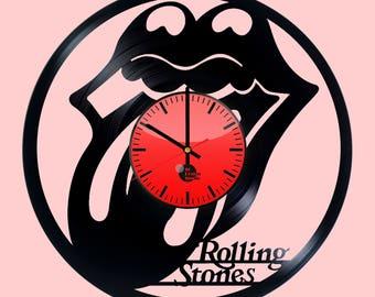 The Rolling Stones  Vinyl Record Wall Clock Housewarming Gift Walt Disney Design Kids Room Decor