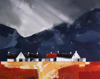 Rusty Roof, limited edition giclee print from an original canvas