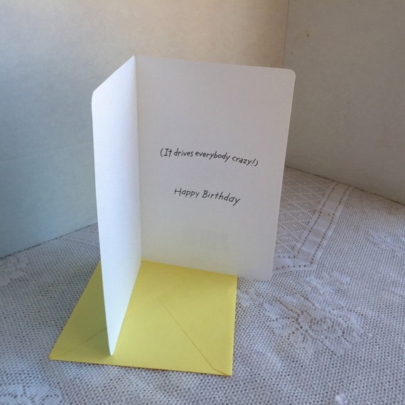 Humorous birthday card and envelope vintage greeting card by humorous birthday card and envelope vintage greeting card by tender thoughts greetings m4hsunfo