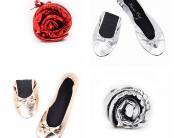 Rollable Flats,Fast Flats,Roll Up Flats,Roll Up Shoes,Fold Up Ballet Flats,Fold Up Pumps,Purse Flats,Fold Up Slipper,Ballerina Flats,shoes