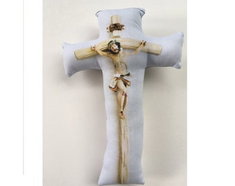 Baby Soft Crucifix, Plush Crucifix, Crucifix Pillow, Jesus for Baby and Toddler: Lighter Print