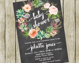 Baby Shower Invitation Printable, Baby Shower Invitation Boho, Baby shower Invitation Gender Neutral