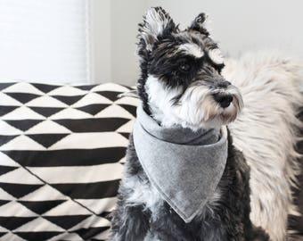 GREY CHAMBRAY | Dog Bandana,Dog Scarf, Dog Accessories, Dog Neckwear, Dog Apparel, Pet Bandana, Dog Gifts