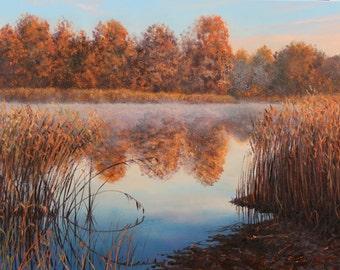 """Crisp Morning / Свіжий ранок - painting, oil on canvas, 45 x 65 cm / 17.7"""" x 25.6"""""""