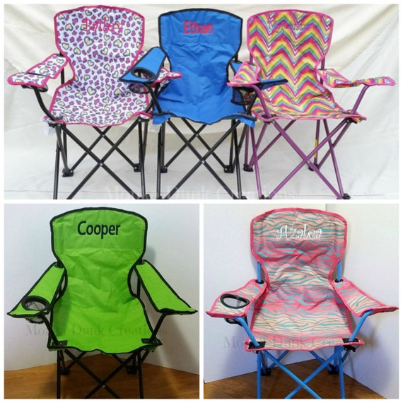 Birthday Gift   Beach Chair   Monogrammed Kids Folding Chair   Childrens  Camping Chair   Kids Sports Chair   Personalized Outdoor Chair