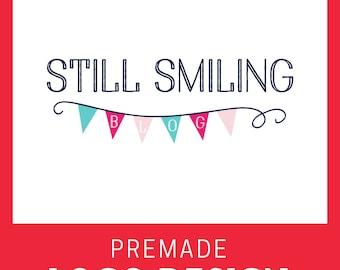 Custom Premade Logo- Bunting Banner