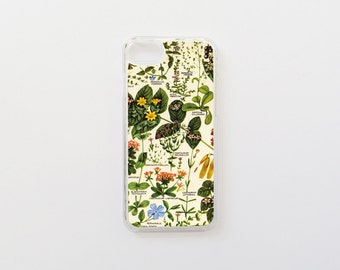 iPhone 7 Case - Botanical iPhone Case - Floral iPhone Case - iPhone 8 Case - Hard Plastic or Rubber