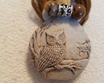 Owl potion bottle necklace