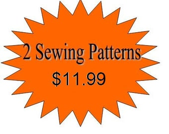 2 Sewing Patterns for Girls Dresses or Skirts, Toddler Pattern, Girls Pdf Sewing Patterns   for 11.99