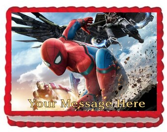 Spiderman Homecoming Edible Cake Topper
