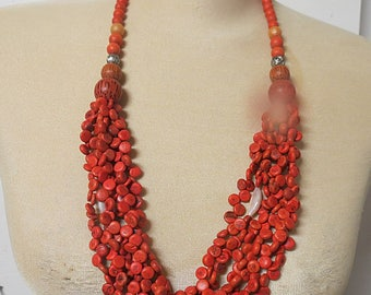 Vintage hippie Multi Stand Necklace #007