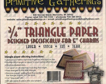 Three quarter inch triangle paper from Primitive Gatherings