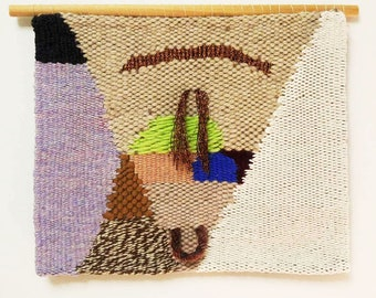 """Tapestry Weaving - """"Subluxation"""" / hand woven wall hanging"""