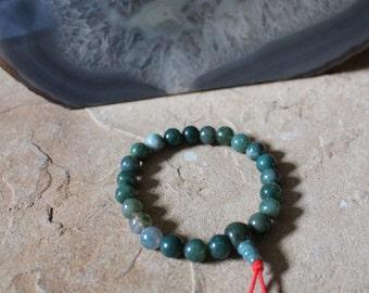 Moss Agate Mala/Power Bead Bracelet