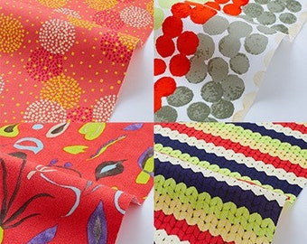 On sale Assorted Red Colorful Fabric  Bundle  H30cmxW50cm Cut x 7    collabocca Re:1960 TK-11-1