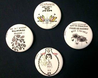 Large illustrated Badges (56mm)