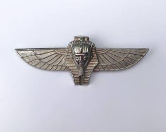 Winged Tutankhamun Brooch