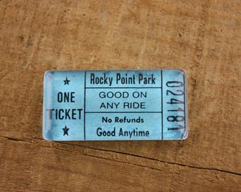 Rocky Point Park Ticket Magnet - Good On Any Ride