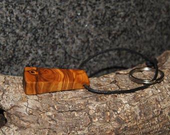 Olive wood keychain
