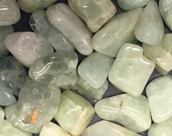 Aquamarine Medium Tumbled Stone