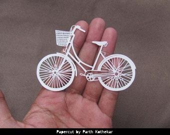 Miniature Papercut - Bicycle - ladybike