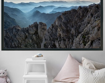 Extra Large Wall Art Printable Art Mountain Print Landscape Photography Office Decor Mountain Wall Art Gift Home Decor Minimalist Poster