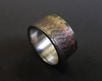 Welded Ring, Tig Ring, GTAW Ring, Welded Art, Walking The Cup, Walking The Cup Ring, Welder's Ring, Gift For Welders
