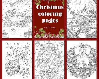 Adult ColoringCHRISTMAS Coloring Pages Pdfdownload 4 By Nashana Webb