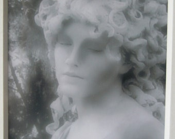Fantasy Dream Like Photograph 4 x 6  of a Garden Goddess in BW Matted  11 x 14 OOAK
