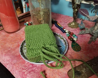 Knitted Tarot Pouch