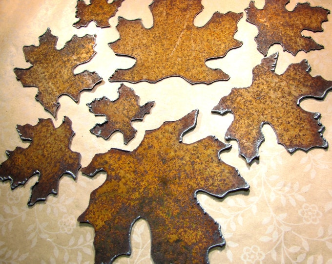Maple Leaves Rustic Wedding Decor Recycled Metal Primitive