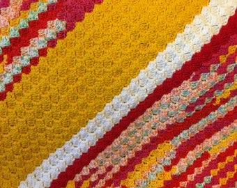 Bright and sunny baby blanket