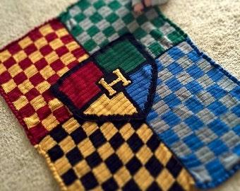 Crochet Harry Potter inspired Throw Blanket