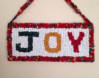 Locker Hooking Small Wall Hanging -Joy