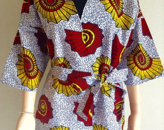 Kimono jacket wax certifies 54/52/50/48/.../34/32 prints shells