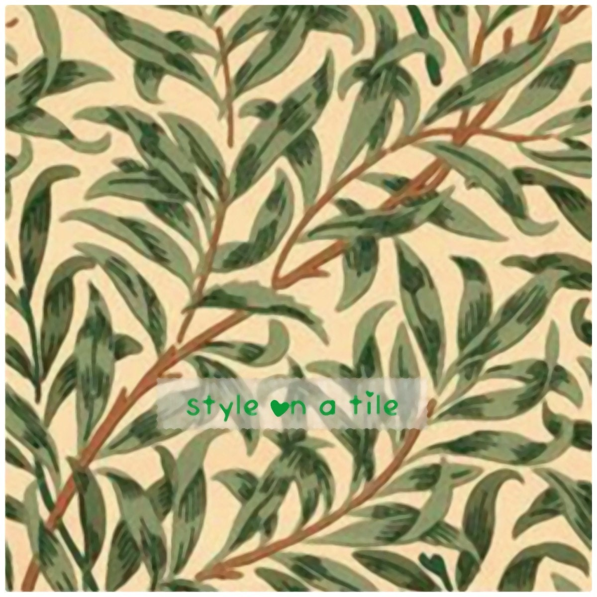 Lovely william morris green willow bough design b 6152mm ceramic gallery photo dailygadgetfo Choice Image