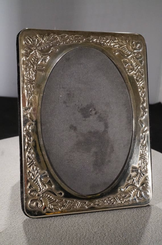 Vintage Sterling Silver Picture Frame Fancy Raised Relief Scrolled ...