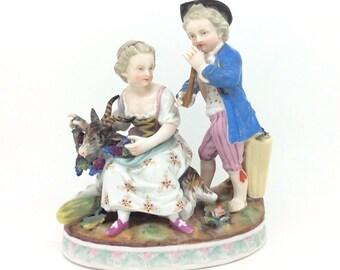 "Continental German Sitzendorf Porcelain Figurine Four Seasons Summer 6"" 15cm"